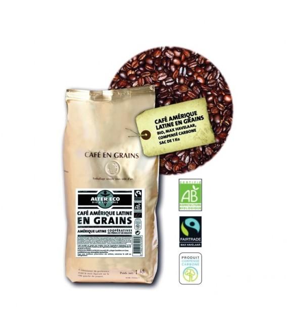 Café 1kg Amérique latine en Grain bio et équitable