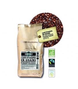 Café 1kg Ethiopie en grain bio et équitable
