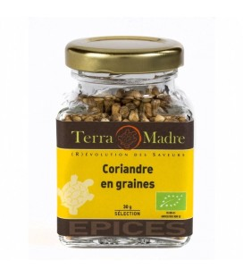 Coriandre en grains bio (petit pot)