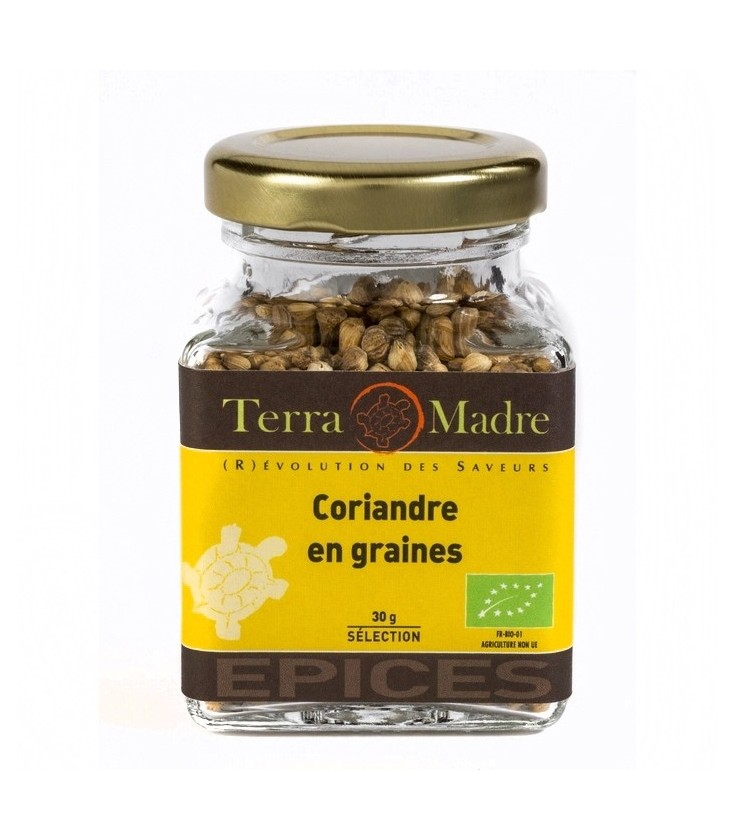 DATE DÉPASSÉE - Coriandre en grains bio (petit pot)