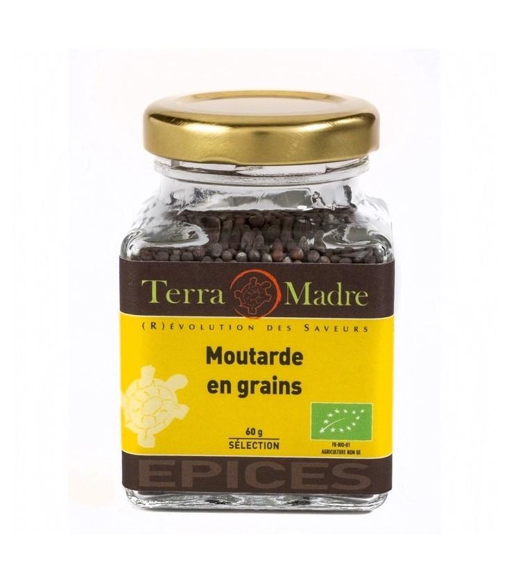 Moutarde brune en grains bio