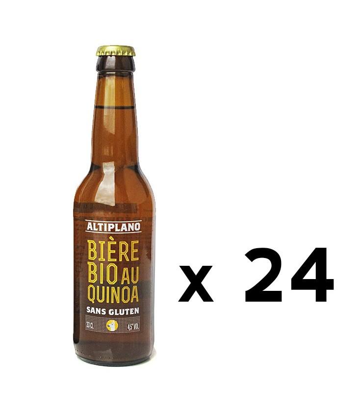 Caisse de 24 bières au quinoa bio et sans gluten