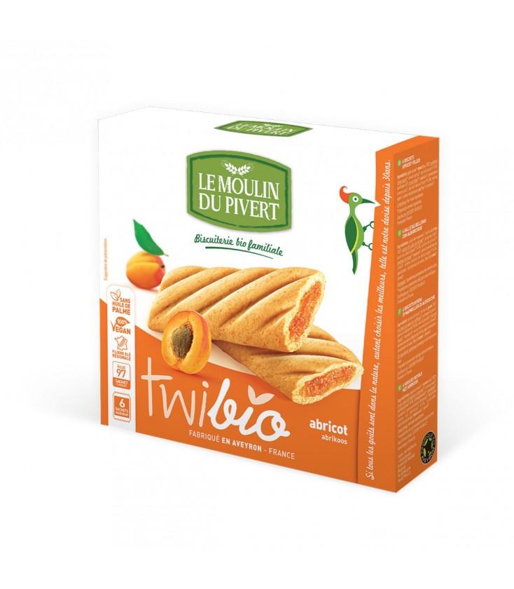 Biscuits Twibio fourrés à l'abricot bio & vegan