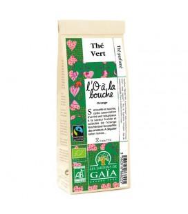 L'O à la bouche - Thé vert parfumé Orange bio & équitable