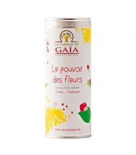 DATE DÉPASSÉE - Le Pouvoir des Fleurs - Mélange de Thés parfumés (Sureau , Framboise) bio