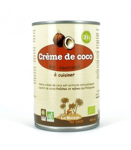 DATE PROCHE - Crème de coco bio à cuisiner 21%