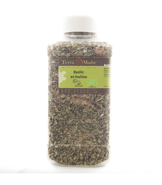 DATE DÉPASSÉE - Basilic bio en feuilles (150 g)