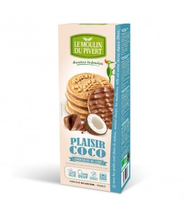 DATE DÉPASSÉE - Biscuits Plaisir Coco Chocolat au Lait Bio