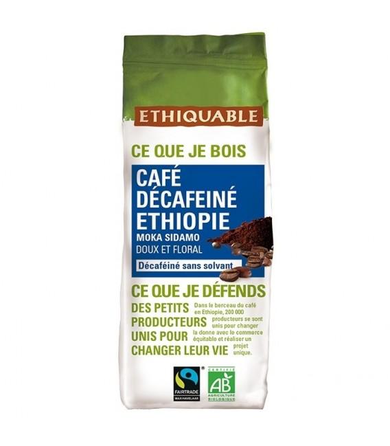 Café décafeiné Ethiopie MOULU bio & équitable