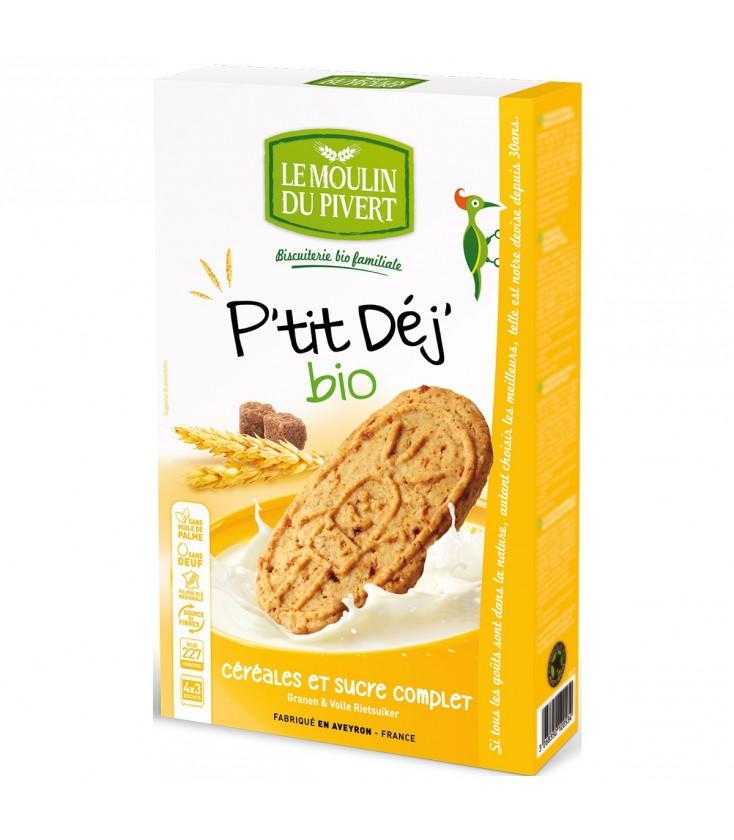 Biscuits P'tit Déj' Céréales & Sucre complet bio & équitable