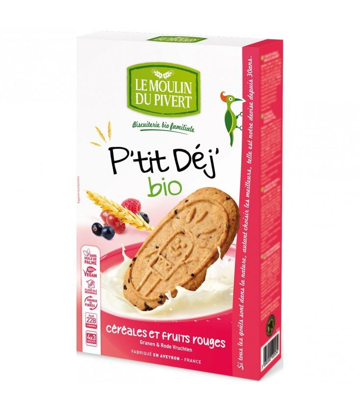 Biscuits P'tit Déj' Céréales & Fruits rouges bio & vegan