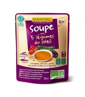 Soupe bio aux 5 légumes du soleil