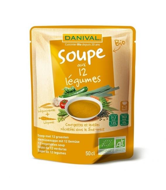Soupe bio aux 12 légumes