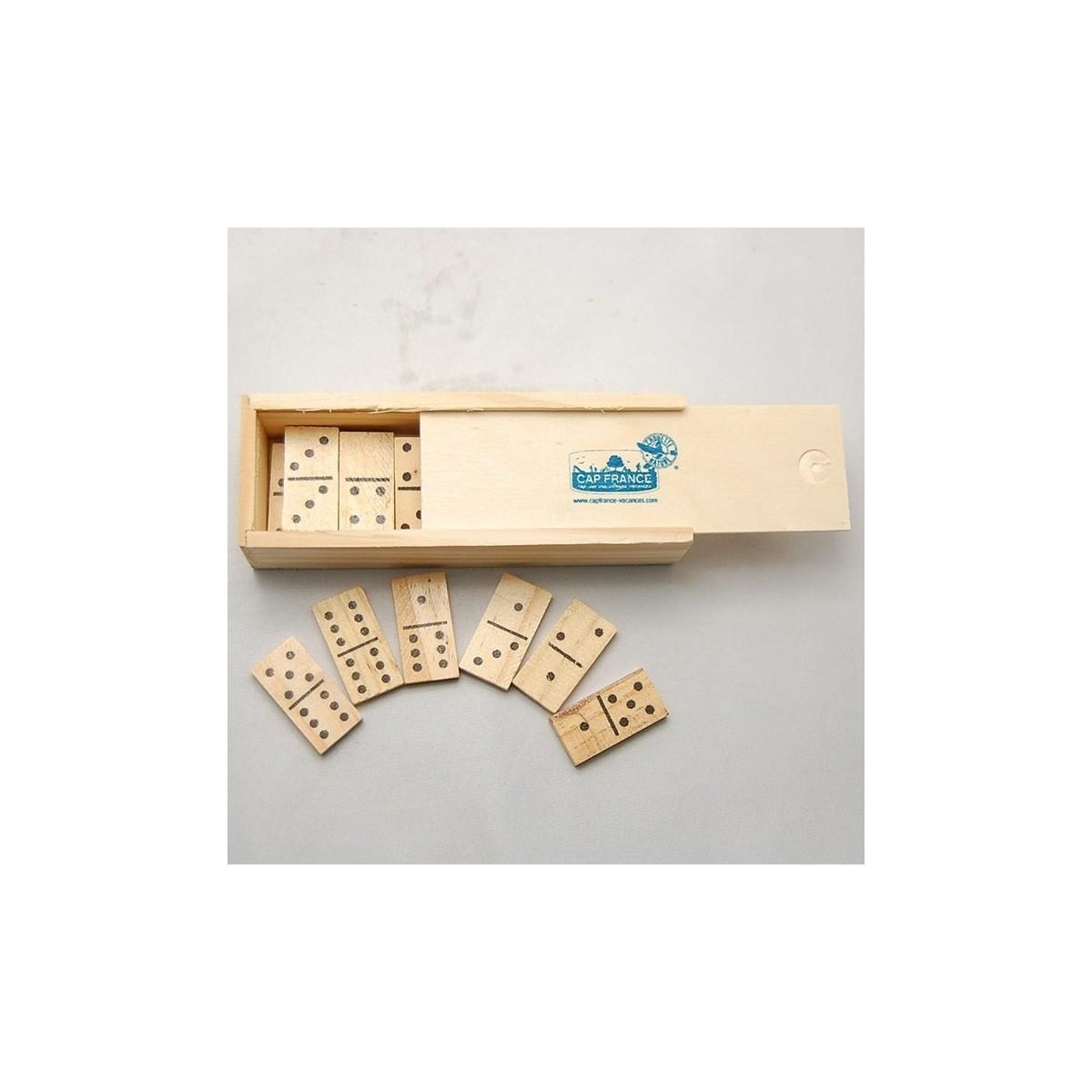 jeu de dominos en bois. Black Bedroom Furniture Sets. Home Design Ideas