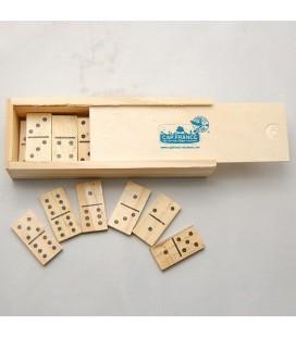 Jeu de dominos en bois