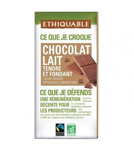 Chocolat Lait Nature bio & équitable