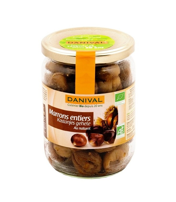 Marrons entiers au naturel bio