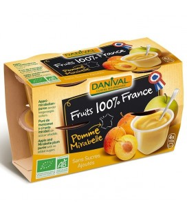 Purée 100% France Pomme Mirabelle bio