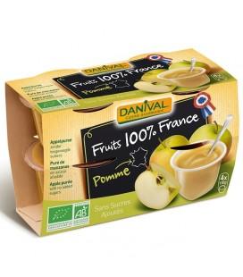 Purée 100% France Pomme nature bio