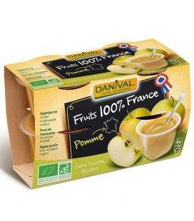Purée pomme nature 100% France bio sans sucres ajoutés
