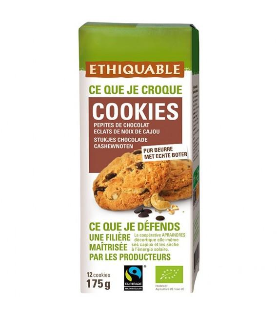Cookies Pépites de Chocolat éclats de Noix de Cajou bio & équitable