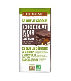 PROMO DÉCOUVERTE - Chocolat Noir Café Amande bio & équitable
