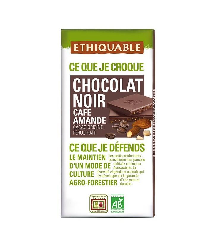 DATE PROCHE - Chocolat Noir Café Amande bio & équitable