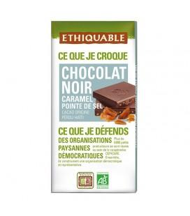 Chocolat Noir Caramel Pointe de Sel bio & équitable