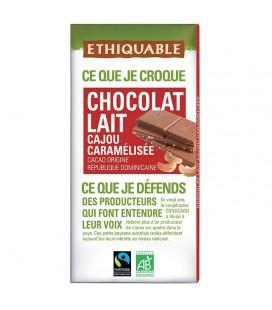 DATE DÉPASSÉE - Chocolat Lait Cajou Caramélisée bio & équitable
