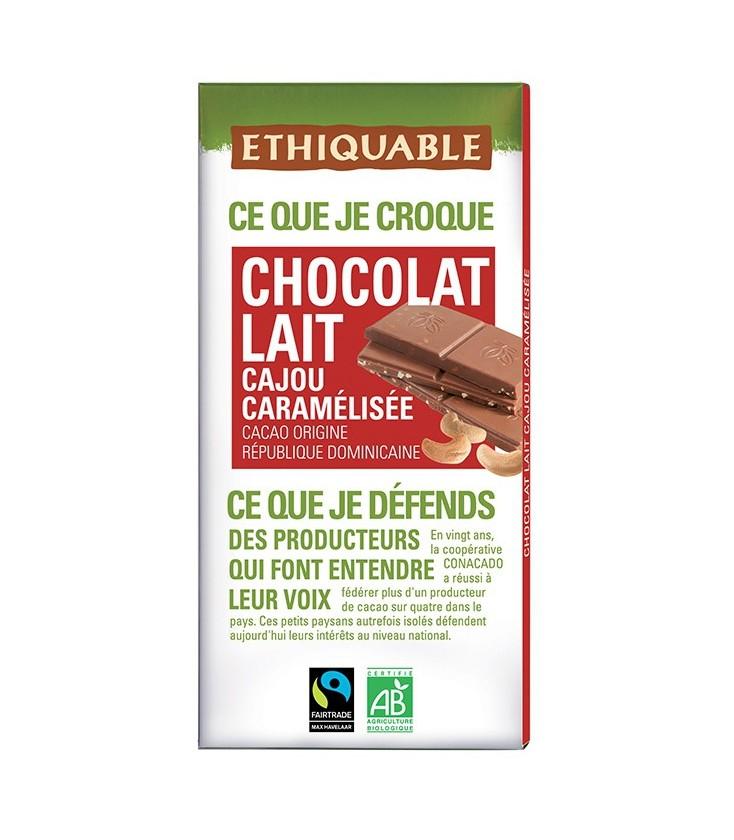 DATE PROCHE - Chocolat Lait Cajou Caramélisée bio & équitable