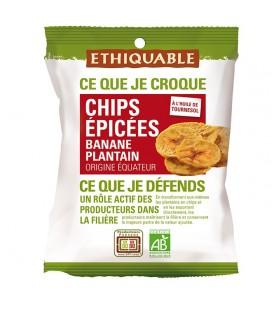 DATE PROCHE - Chips ÉPICÉES Banane Plantain bio & équitable