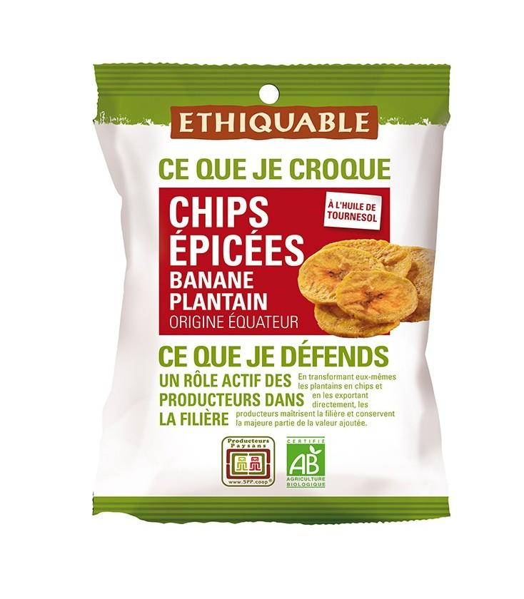 DATE DÉPASSÉE - Chips ÉPICÉES Banane Plantain bio & équitable