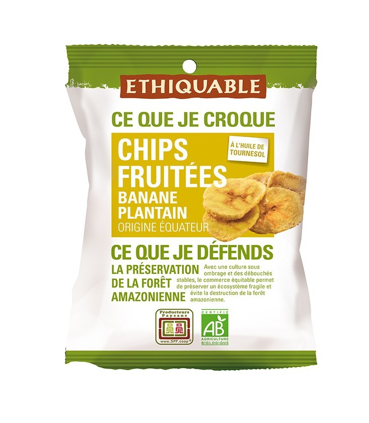 PROMO DÉCOUVERTE - Chips FRUITÉES Banane Plantain bio & équitable