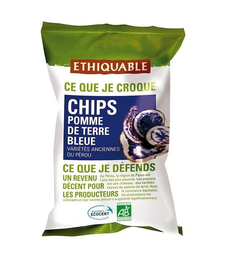 DATE PROCHE - Chips Pomme de Terre Bleue bio & équitable