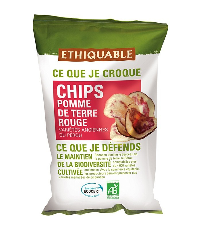 chips pomme de terre rouge bio quitable 100 g ethiquable. Black Bedroom Furniture Sets. Home Design Ideas