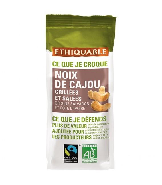 DATE DÉPASSÉE - Noix de Cajou Grillées et Salées bio & équitable