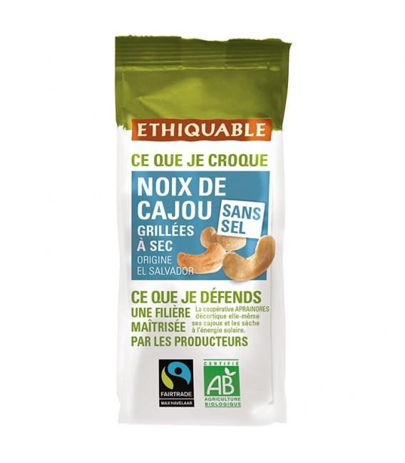 Noix de Cajou Grillées à Sec SANS SEL bio & équitable