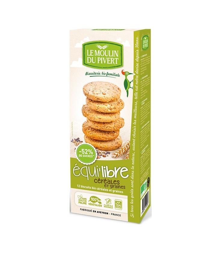 DATE DÉPASSÉE - Biscuits bio Equi'libre Céréales et Graines Bio & Vegan
