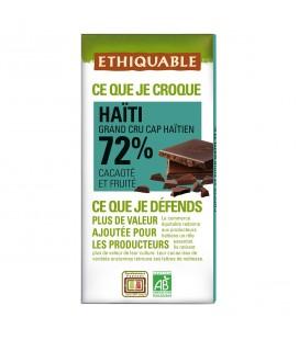 Chocolat Noir Grand Cru 72% bio & équitable