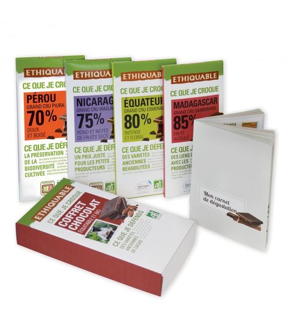 Coffret 4 tablettes chocolat noir bio & équitable - DERNIERS STOCKS