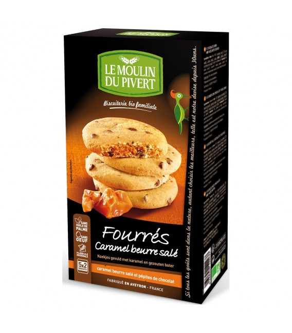 DATE PROCHE - Biscuits Fourrés Caramel Beurre Salé bio & équitable