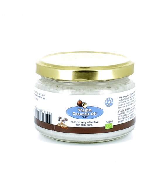 Huile vierge de coco bio CRUE, pour une peau douce et hydratée 225 ml