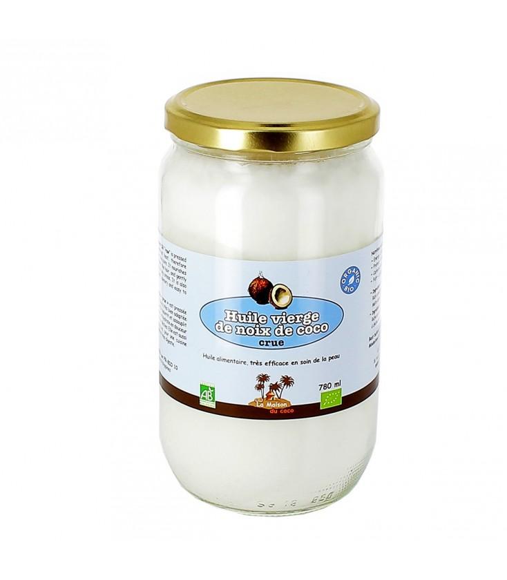 Huile vierge de coco bio CRUE, pour une peau douce et hydratée 780 ml