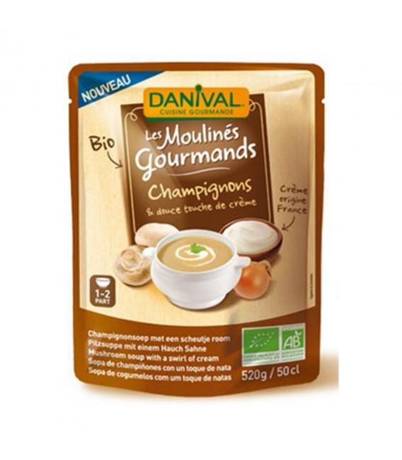 Soupe bio aux champignons & crème