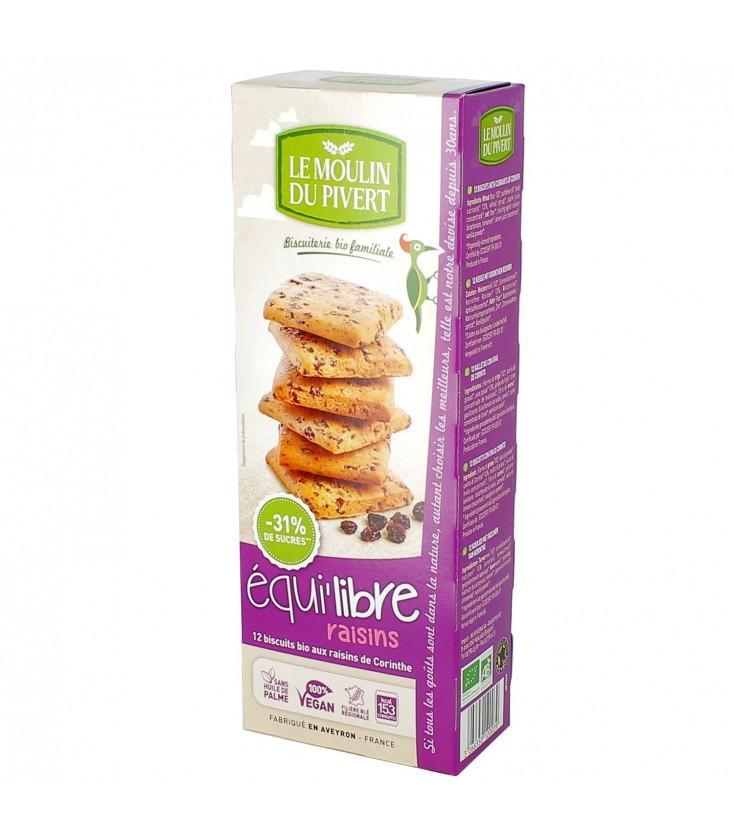 DATE DÉPASSÉE - Biscuits bio Equi'libre raisins Bio & Vegan