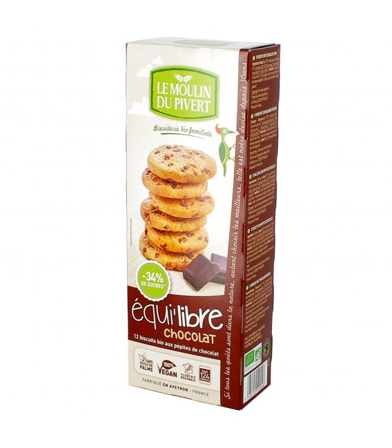 Biscuits bio Equi'libre Chocolat Bio & Vegan