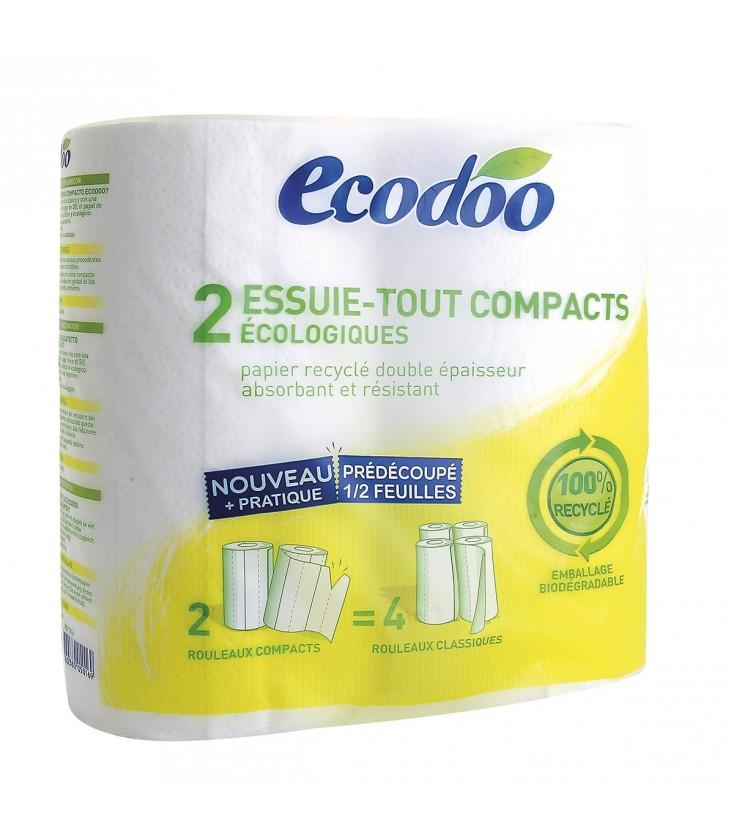 Essuie-tout compacts écologiques et 100 % récyclé