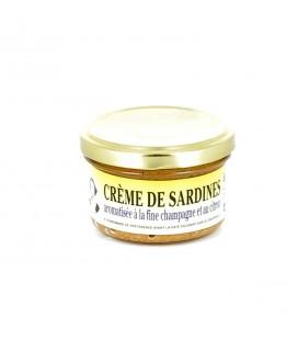 DATE DÉPASSÉE - Crème de sardines aromatisée à la Fine Champagne et au citron - DERNIERS STOCKS