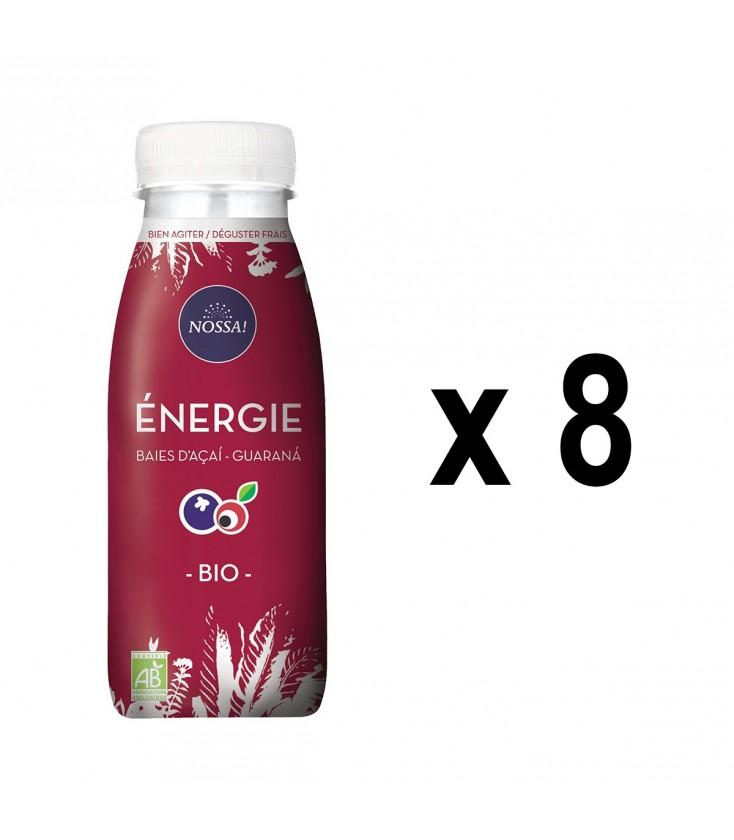 """Pack de 8 boissons """"Énergie"""", baies d'açaí et guarana bio"""