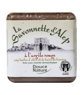 PROMO - Savonnette d'Alep à l'argile rouge et aux huiles d'olive et de baies de laurier